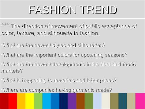 define trendsetter fashion forecasting
