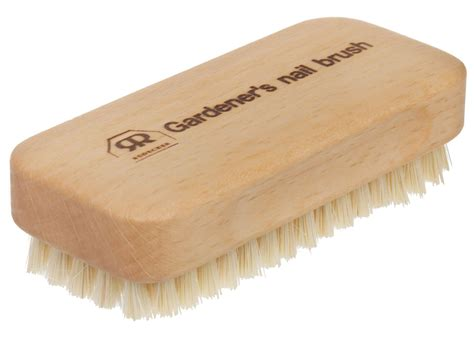 bathroom scrub brush redecker treated wood bath shower massage or nail scrub