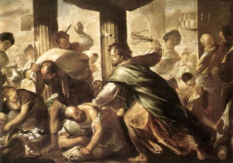jesus cleanses the temple painting christ cleansing the temple luca giordano