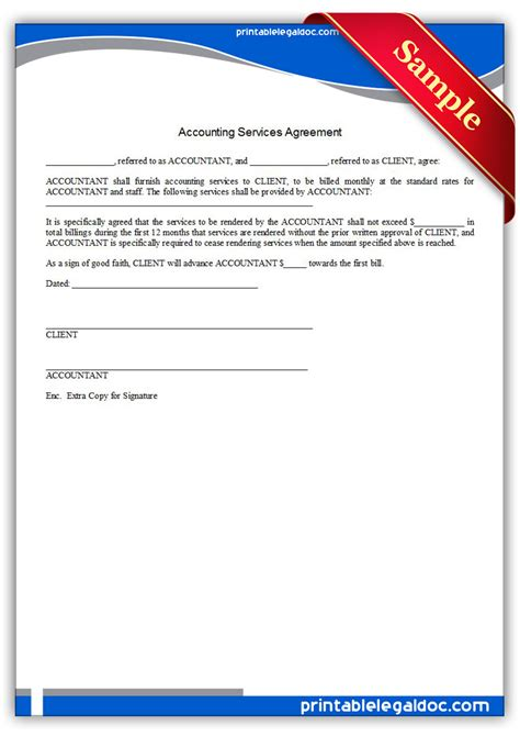 contract for accounting services template free printable accounting services agreement form generic