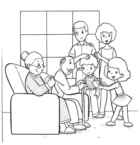 free coloring pages of extended family