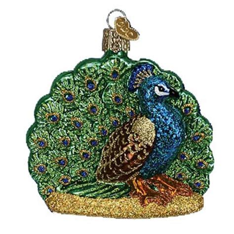 proud peacock ornament old world christmas