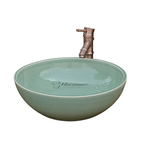 decorative sinks bathroom decorative round shaped green ceramic sinks bathroom