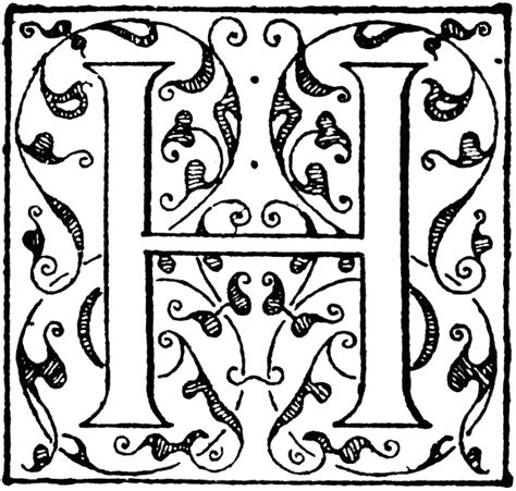 h ornate clipart etc
