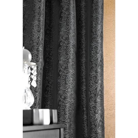 Rideaux Noir Et Argent by Rideau Noir Avec Motif Argent 140 X 260