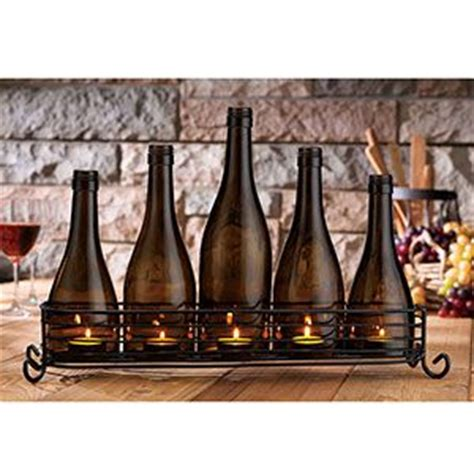 wine bottles with candles in them home decor craft idea wine bottle candle holder create