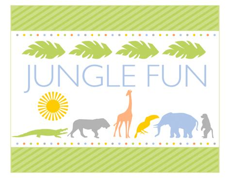 free printable jungle birthday banner free jungle party printables from printabelle catch my party