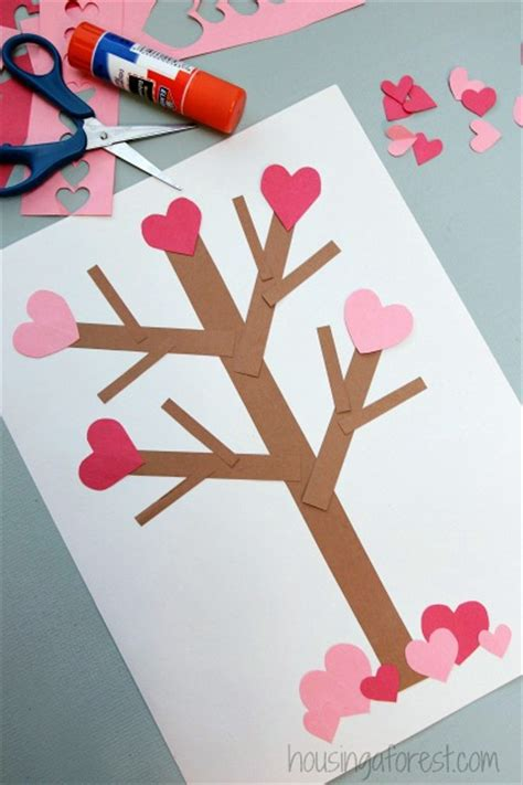 Valentines Paper Crafts - valentine s day tree paper craft housing a forest