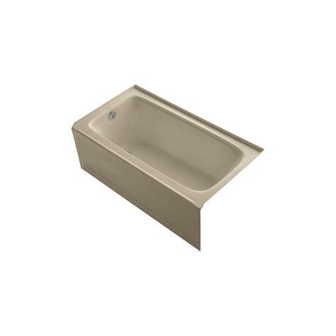 kohler bancroft bathtub kohler bancroft 5 ft left drain bathtub in mexican sand k
