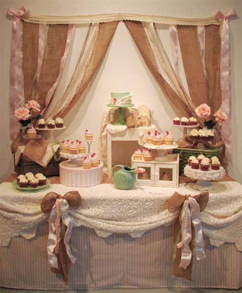 shabby chic rustic wedding cupcake dessert table