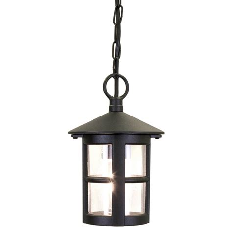 Elstead Lighting Hereford Outdoor Single Light Black Black Lantern Pendant Light