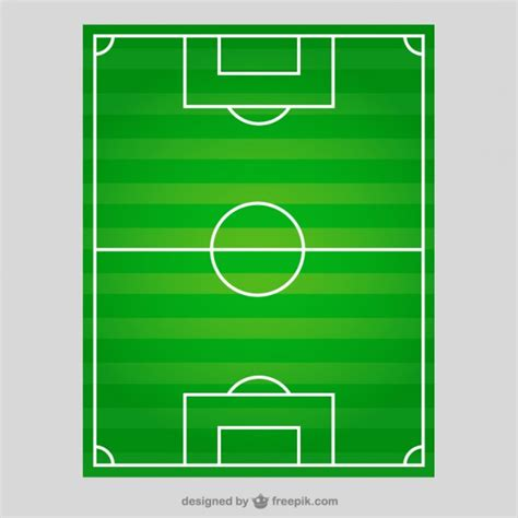 best free soccer soccer field in top view vector free