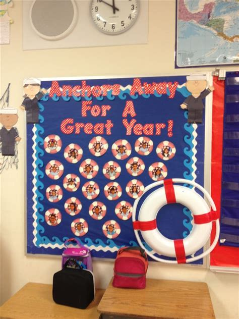 nautical themes nautical theme classroom bulletin board with students