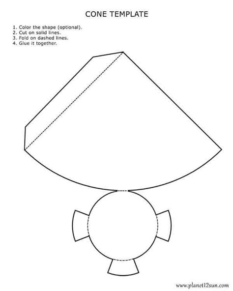 template to make a cone free printables for
