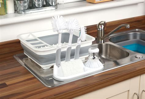Beldray Collapsible Dish Draining Board and 4 Piece