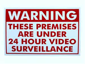 home cctv surveillance security warning decal