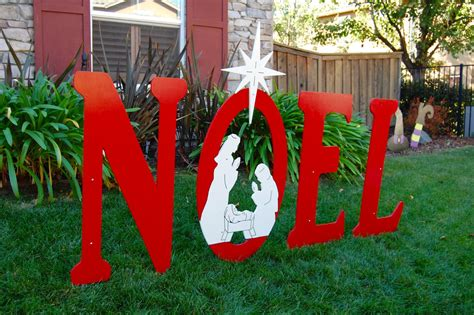 large outdoor christmas signs noel sign with engraved nativity yard sign large
