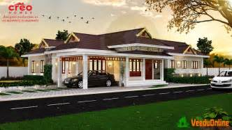 Home Desings by Eye Catching Single Storied Kerala Home Designs