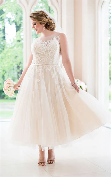 Wedding Dresses Tea Length by Tea Length Tulle Wedding Dress Stella York Wedding Dresses