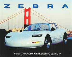 Electric Car Zebra 1997 Zebra Electric Sports Car By Zebra Motors Inc Of