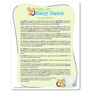 Baby Shower Pass The Parcel Story by Printable Right Left Baby Shower Pass The Wrapped