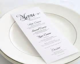 Elegant menu design alluring script wedding menus