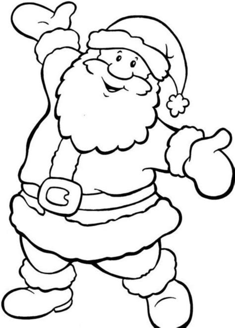 printable santa pictures free santa colouring pictures christmas coloring pages