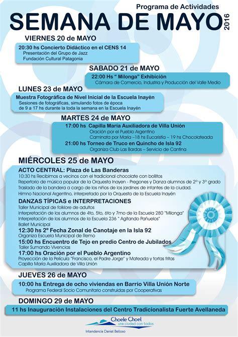 sagitario cuarta semana mayo 2016 programa de actividades semana de mayo municipalidad de