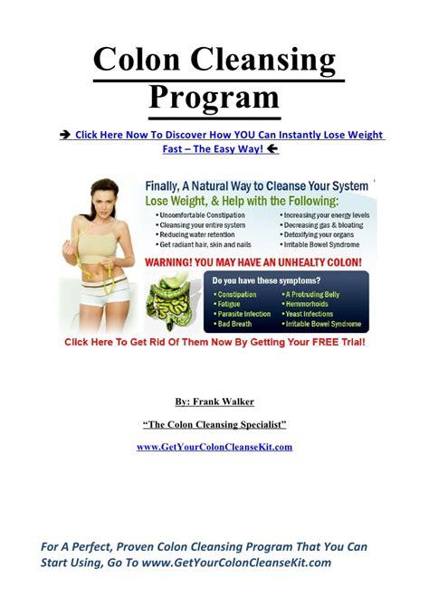 Colon Detox Program by Colon Cleansing Program