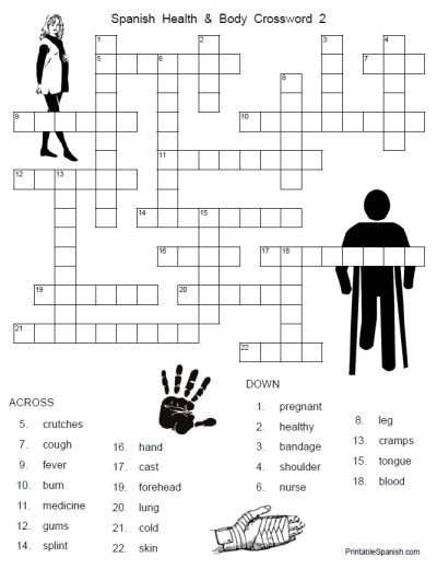 health and crossword 2 printable