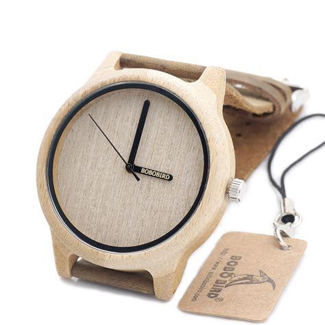 bobo bird a22 bamboo wood quartz analog miyota japanese 2035 movement with logo pointer in