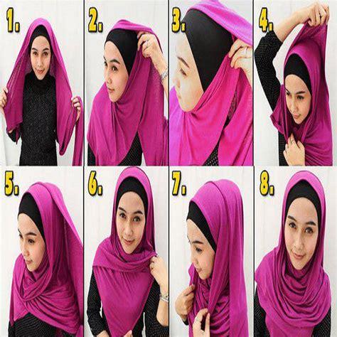 tutorial hijab pashmina simple  ninja jarum