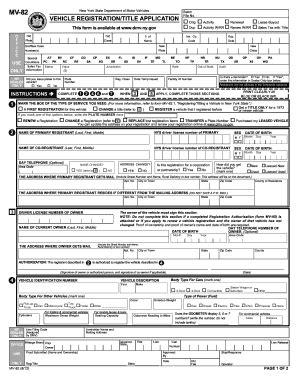 nys dmv boat registration transfer 2012 form ny mv 82 fill online printable fillable blank