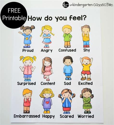 free printable emotions poster 70 best my feelings preschool theme images on pinterest