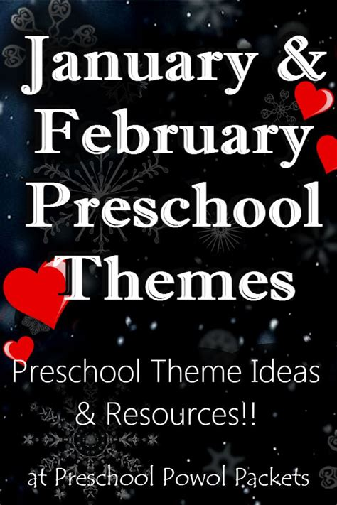 february themes in kindergarten 17 best images about preschool powol packets blog on