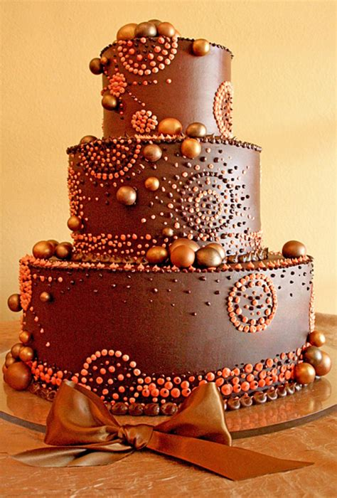 Chocolate Wedding Cake Designs by A Chocolate Buttercream Wedding Cake Brides