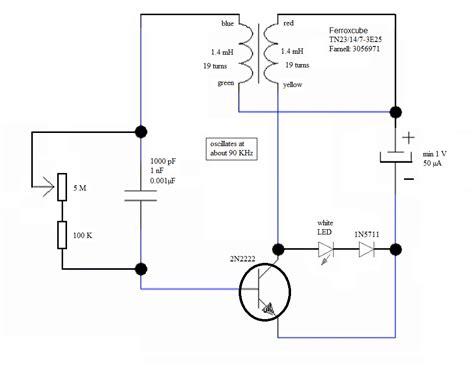joules thief circuit diagram joule thief