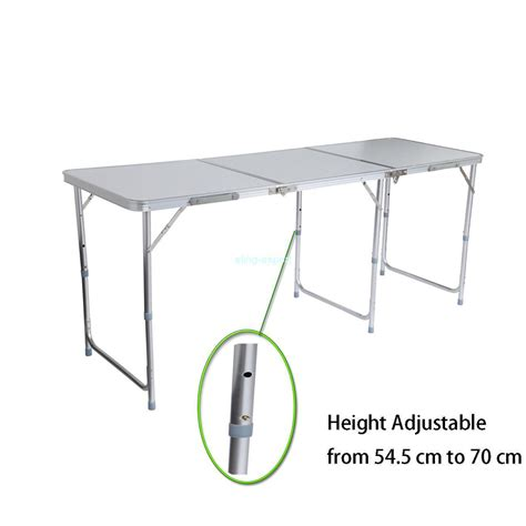 6 ft portable folding table portable aluminum 6ft folding table in outdoor picnic