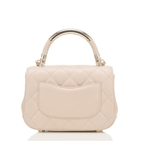 Chanels Carry Chic Flap Bag chanel beige lambskin carry chic flap bag world s best