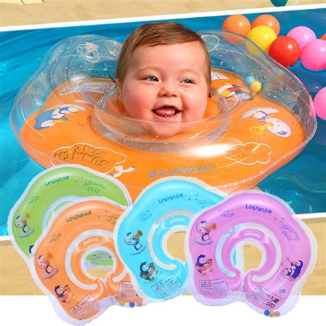 inflatable circle newborn neck float infant baby swimming
