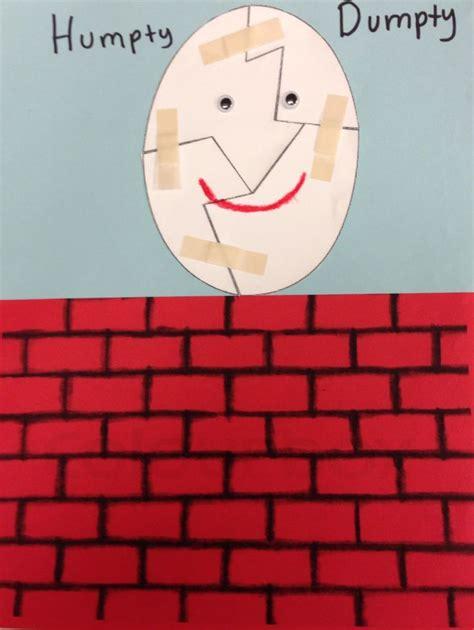 humpty dumpty puzzle template 15 best paper puzzles back to school images on