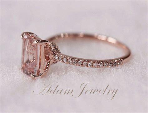 Pink Morganite 4 93ct Pink Emerald pink emerald cut vs morganite ring si h diamonds by
