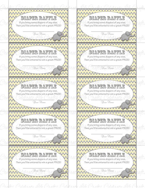 free printable raffle tickets for baby shower printable diaper raffle tickets baby shower instant