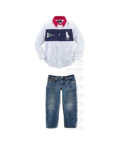 Setelan Peak Celana Denim Putih jual setelan kemeja polo putih stripe celana