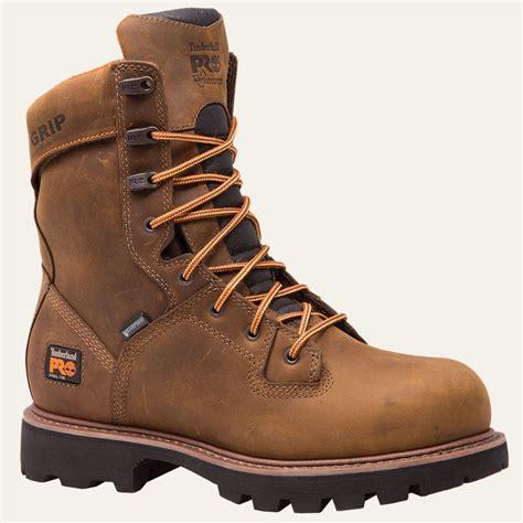 timberland logger boots timberland pro boots mens crosscut 8 quot steel toe waterproof
