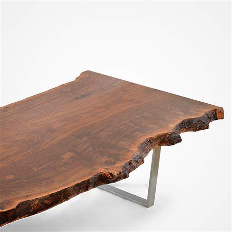 walnut slab table claro walnut slab dining table stainless steel base