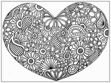 abstract heart coloring pages snap cara org