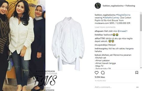 Harga Parfum Merk Nagita Slavina kemeja polos nagita harganya belasan juta kocaknya netter