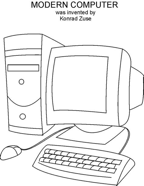 Computer Coloring Printable Page Coloring Pages On The Computer
