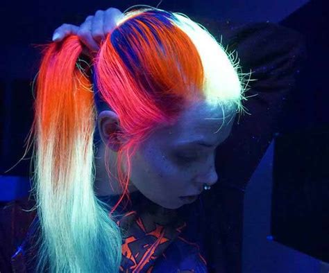 how to make neon color temporary hair dye with food glow in the dark hair dye permanent how to make manic